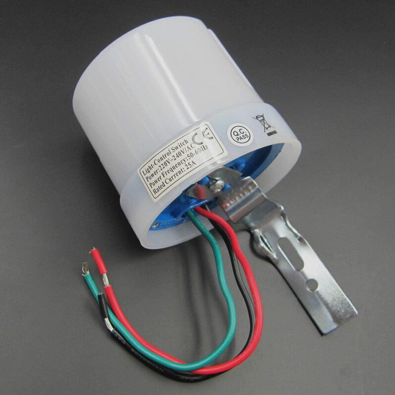 Light Control Switch Sensor Intelligent Switch Light Sense Adjustable Outdoor Waterproof and Dustproof High Power 25A