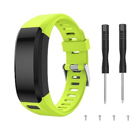 TOPsic Garmin Vivosmart HR Armband, Zubehör Verstellbares Weiches Silikon Bracelet Sport Armband Entwickelt für Garmin Vivosm