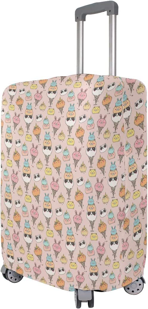 Fashion Travel Cute Animal Ice Cream Pandas Luggage Suitcase Protector Washable Baggage Covers
