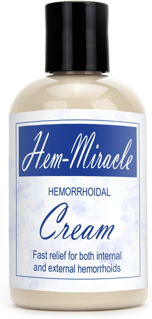 Western Herbal and Nutrition | Hem-Miracle Cream | Natural Hemorrhoidal Treatment | Fast Relief for Both Internal & External Hemorrhoids | 4 oz. Bottle