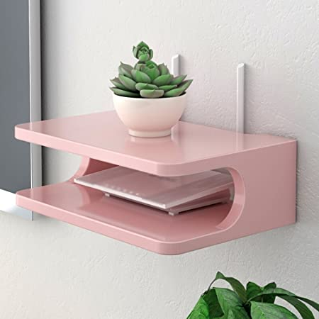 Wall storage shelf/set-top box shelf/wall-mounted living room shelf ...