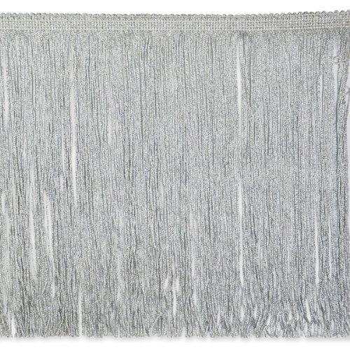 Expo International 10-Yard Metallic Chainette Fringe Trim, 12-Inch, Silver by Expo International Inc.