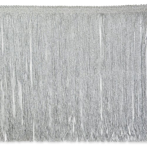 Expo International 10-Yard Metallic Chainette Fringe Trim, 12-Inch, Silver by Expo International Inc.