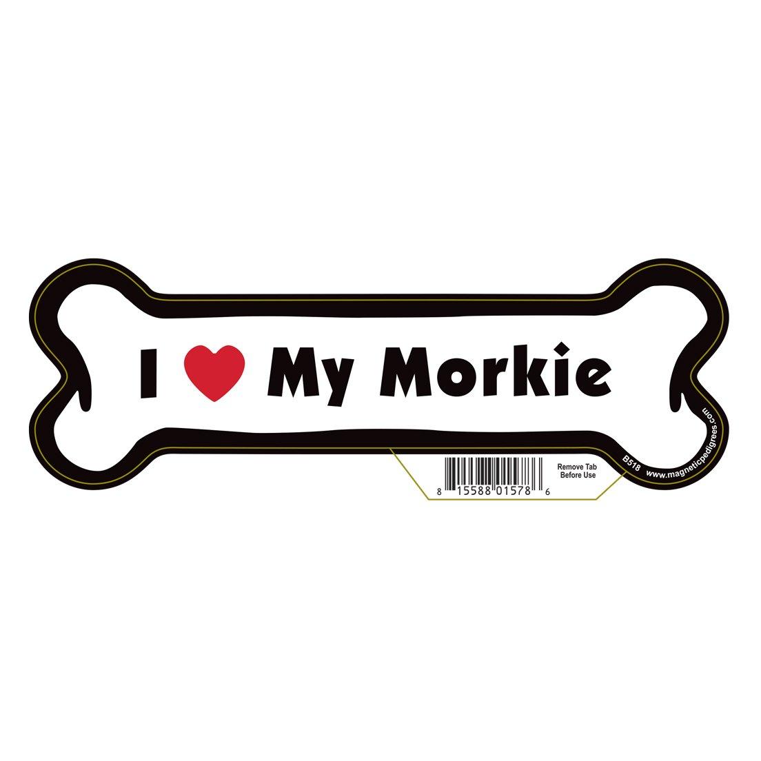Morkie Dog Bone Magnet