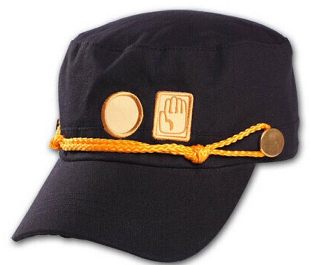 xcoser Teens Jotaro Cosplay Visored Baseball Cap Hat Props Embroider Version