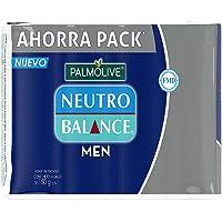 Palmolive Palmolive Neutro Balance Jabón en Barra para Hombre, 150 Gramos, Pack de 4, color, 4 count, pack of aquete de