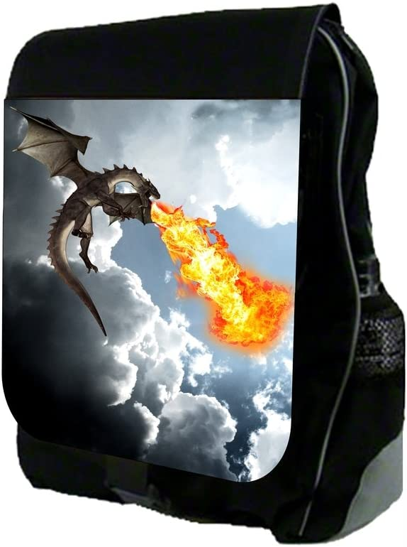 Fire-Breathing Dragon School Backpack and Pencil Case Set
