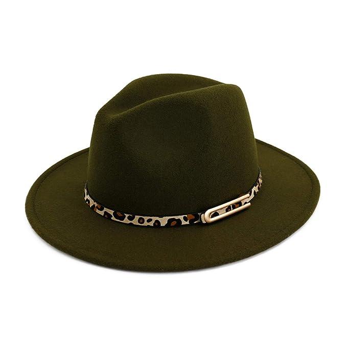 BenKPooaK Lady Panama Fedoras Wool Felt Wide Brim Jazz Fedora Hats for  Women Trilby Derby Gambler 1ed4dbd210c