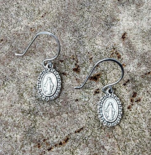 Fancy Miraculous Medal Earrings~FREE SHIPPING! ()