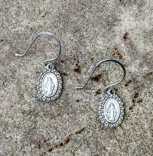 Fancy Miraculous Medal Earrings~FREE ()