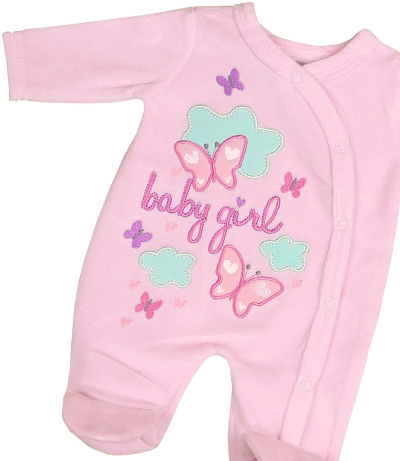 BabyPrem Preemie Tiny Footie Baby Boy Girl Pink Blue Cotton Velour Clothes SLD130