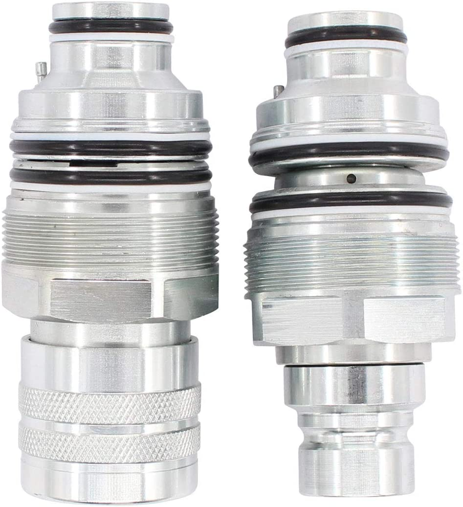 XtremeAmazing Male and Female Flat Face Coupler Kit for Bobcat 753 6679837 6680018