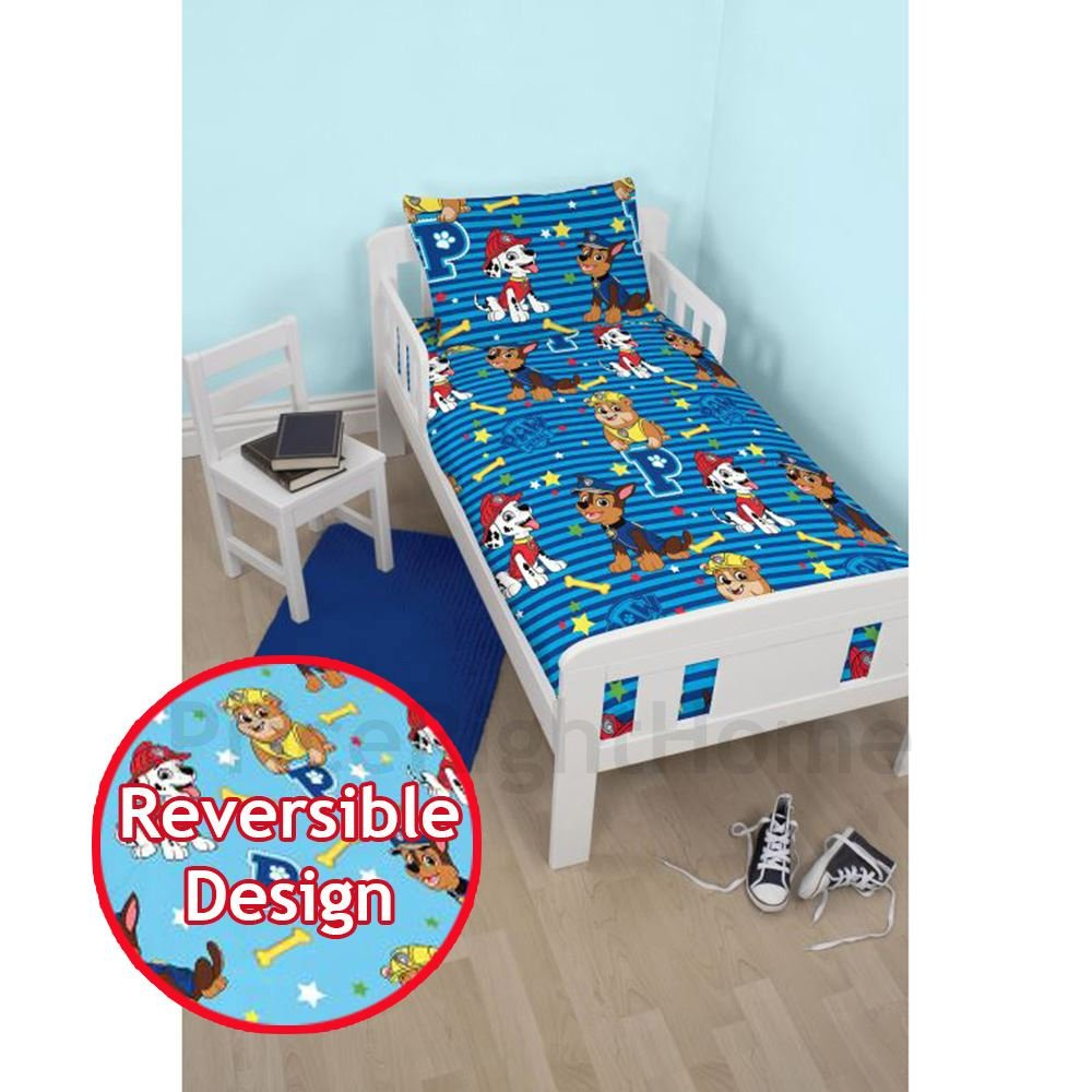 PAW PATROL Hero Junior Reversible Bed Duvet Set Fits Toddler , Junior & Cot Bed