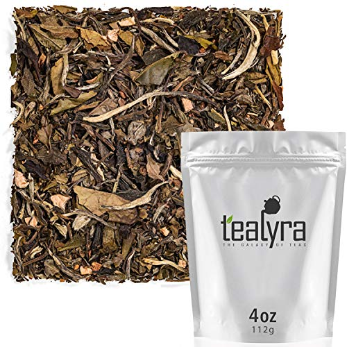 (Tealyra - Peach White Peony - White Loose Leaf Tea - High Antioxidants - Low Caffeine - All Natural - 112g (4-ounce))