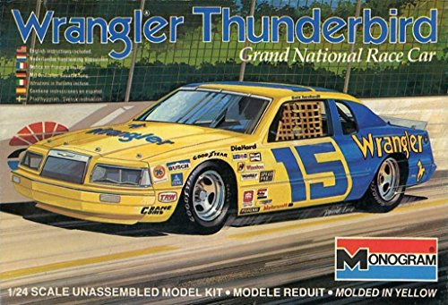 Monogram 1:24 #15 Wrangler Thunderbird Grand National Race Car Kit #2206 (Grande Monogram)