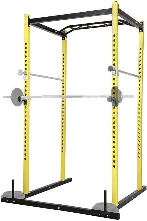 Nova - Barra de dominadas multifunción para Gimnasio, Fitness, Carga máxima: 200 kg, Jaula para Entrenamiento, Power Squat Rack: Amazon.es: Deportes y aire libre