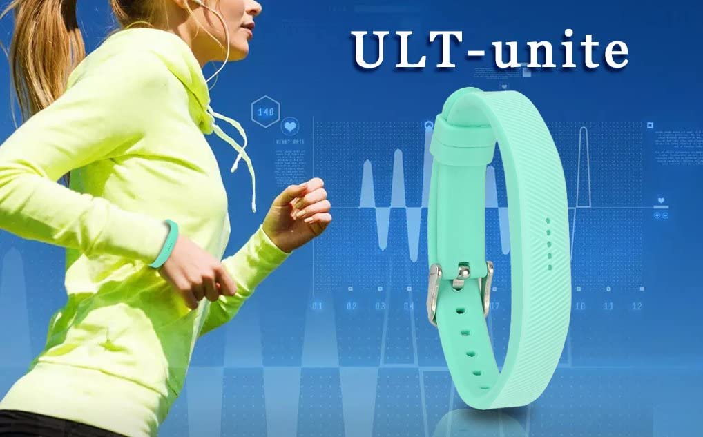 ULT-unite Sports Classic Fitness Replacement Accessories Wrist Band with Secure Buckle for 2016 New Fitbit Flex 2 Bands for Fitbit Flex 2