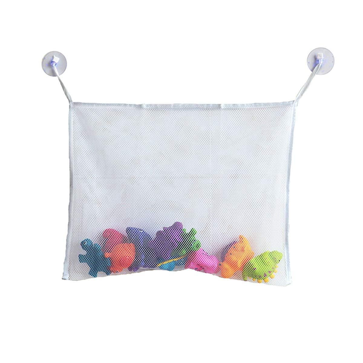 PeiXuan2019 Toy Organizer Net Suction Sucker Mount Toy Storage Hanging Mesh Bag for Baby Bath Bathroom Shower