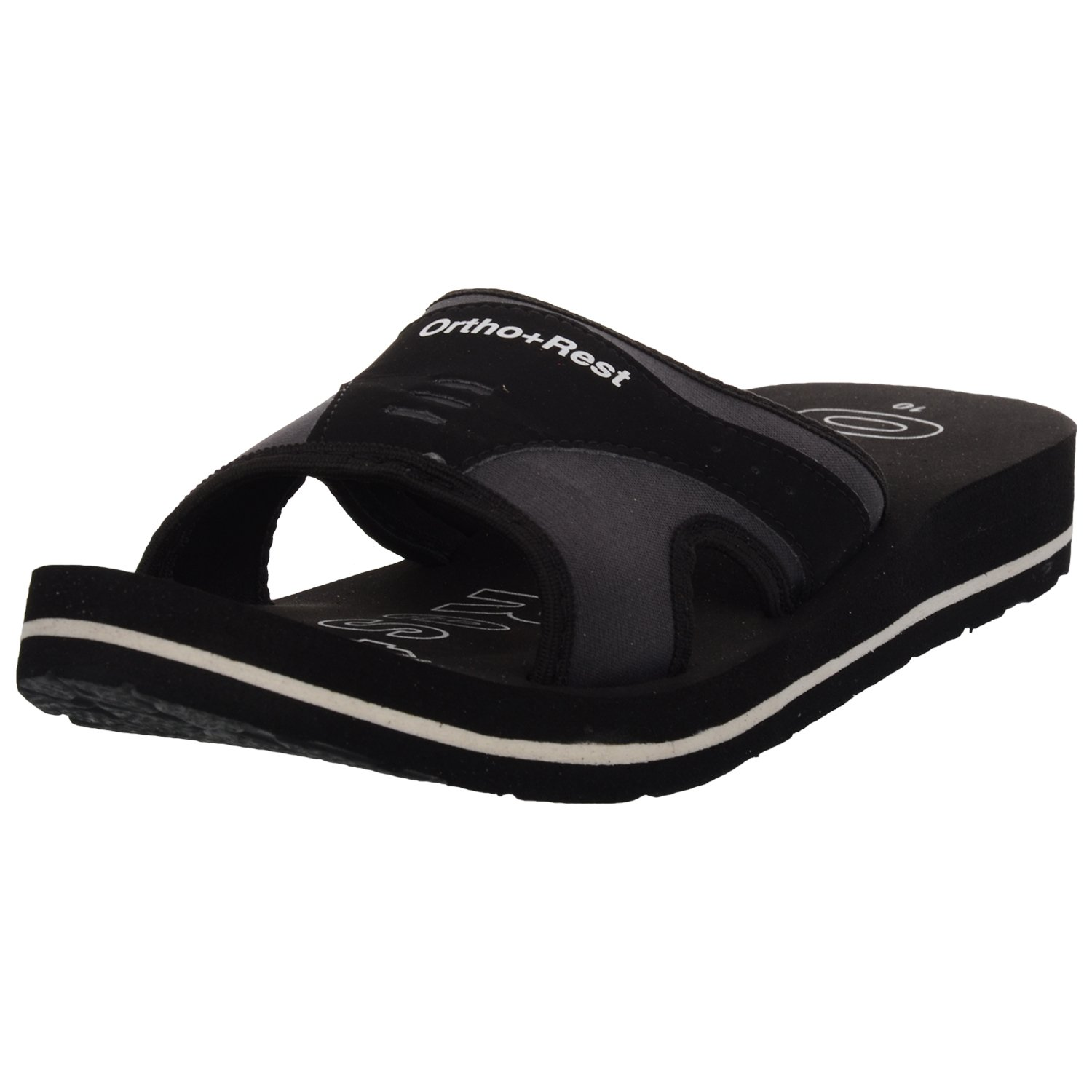 bd7ed38d02beca Ortho + Rest Black Slippers for Men: Buy Online at Low Prices in India -  Amazon.in