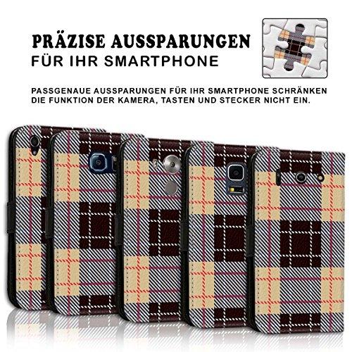 Wallet Book Style Flip Handy Tasche Case Schutz Hülle Schale Motiv Etui für Apple iPhone 6 / 6S - Design Flip MVD217