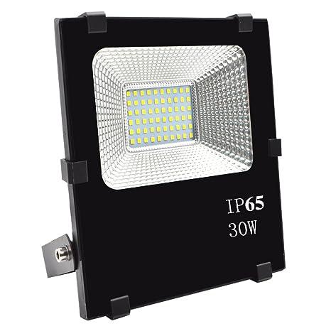 BeiLan 30W Floodlight Super Bright 60 LED Luz de inundación 6000K Luz del día Blanco IP65