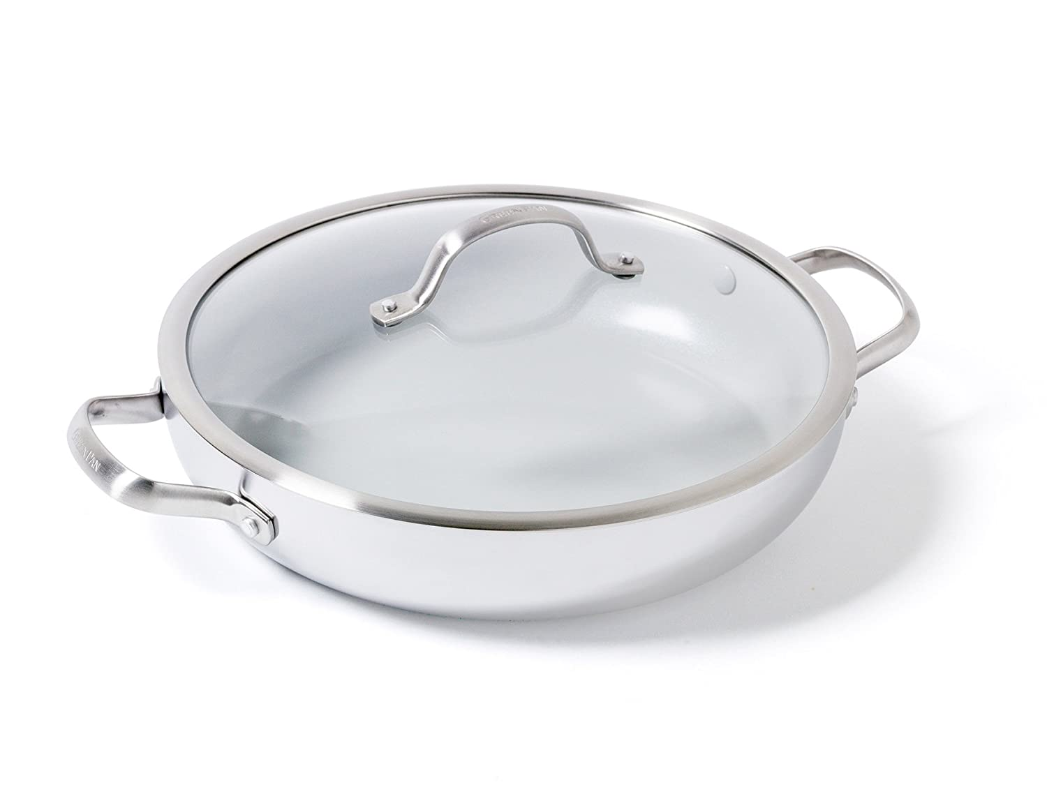 GreenPan Venice Pro 12 Ceramic Non-Stick Covered Everday Pan with 2 Side Handles CC000014-001