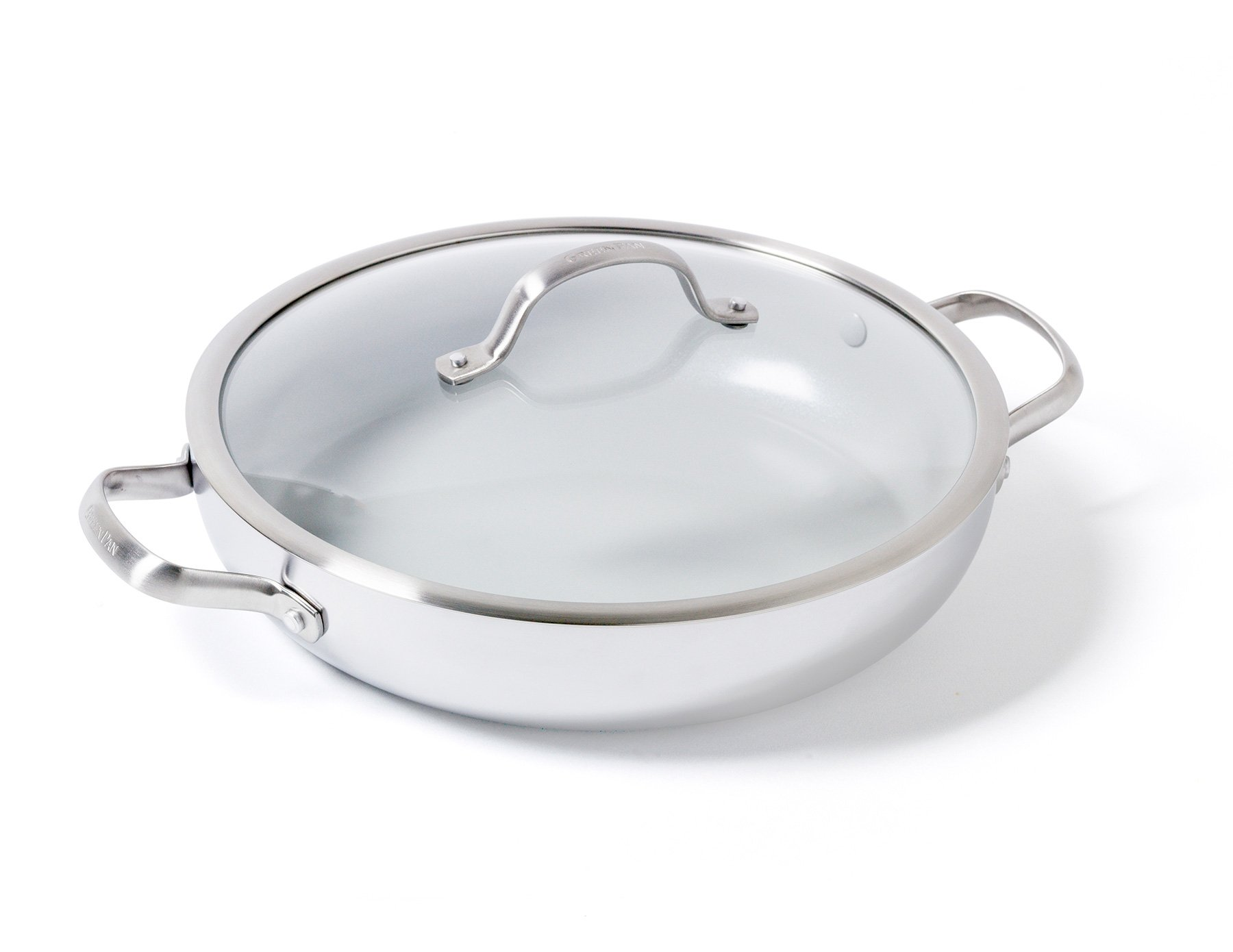 GreenPan Venice Pro 12'' Ceramic Non-Stick Covered Everday Pan with 2 Side Handles