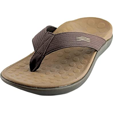 0a290498a Amazon.com | Vionic with Orthaheel Technology Wave 2 Thong Unisex,  Chocolate Men's 9, Women's 10 M | Flip-Flops