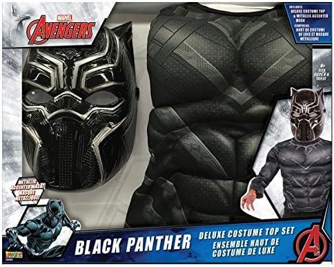 Marvel - Conjunto de disfraz de pantera negra con máscara metálica ...
