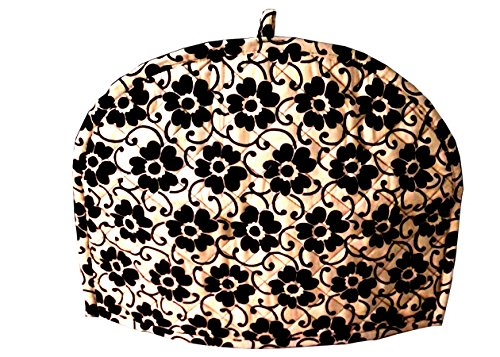 Marudhara Fashion Gold and Black Tea Cosy Cotton kitchen acc
