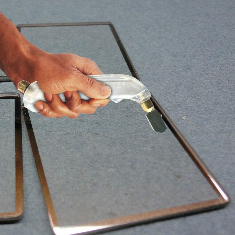 jaune SENRISE Outil de coupe de verre 2-15 mm pour verre teint/é//carrelage//mosa/ïque//miroir//sol