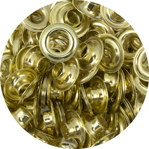 """Springfield Leather Company Solid Brass 5/16"""" Grommets 100 Pack"""