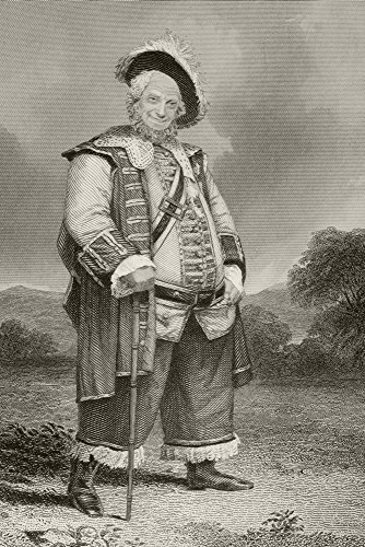 [James Henry Hackett,1800 To 1871. American Actor In Costume As Falstaff In The Play Henry Iv By William Shakespeare. From A Nineteenth Century Engraving. Poster Print (12 x 18)] (Shakespeare Plays Costumes)