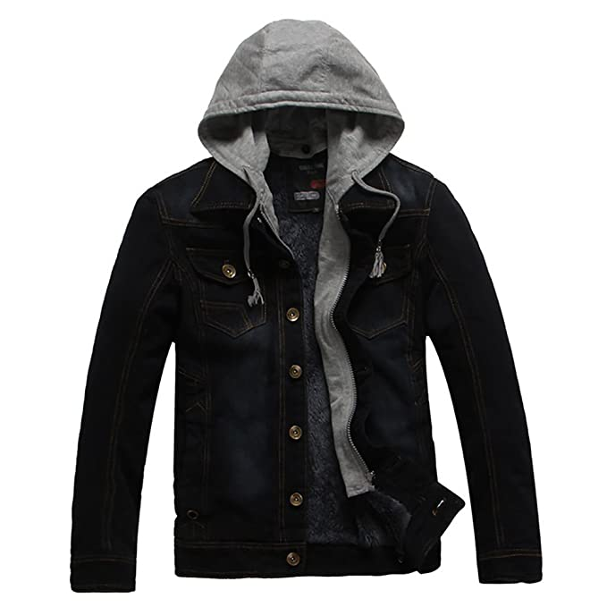 ELEPHANT DANCING Mens Rugged Wear Slim Denim Jacket at ...