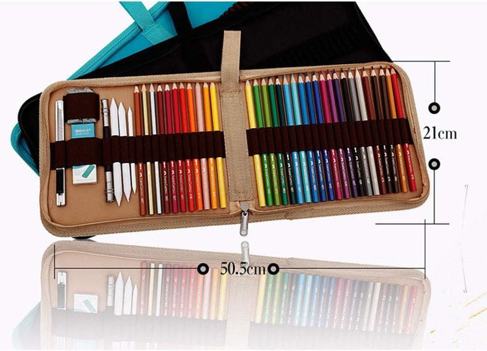 Lona 36 lápices de colores Wrap Viaje Portatil Organizador Táctil ...