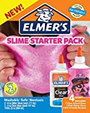 Elmer's Slime Starter Kit, Clear School Glue and Pink Glitter Glue, 4 Count
