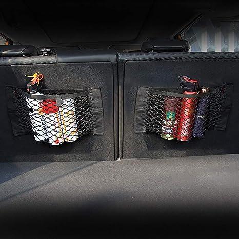 Sheepet Auto Netztasche Organizer Universal Auto Sitz Seitenaufbewahrung Netz Tasche Gep/äckhalter Tasche Kofferraum Cargo Netze Organizer Auto Innenraum Zubeh/ör
