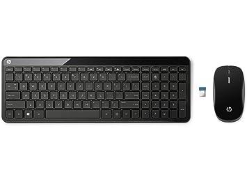 HP C6020 Wireless Desktop - Teclado (Inalámbrico, RF inalámbrico, Negro, USB, Batería, 0-40 °C): Amazon.es: Informática