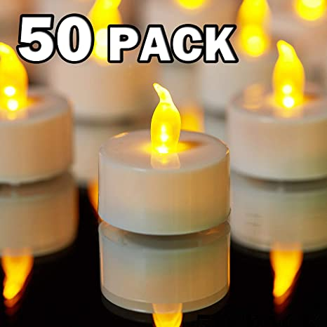 Height 3.6cm//1.4inch Pack of 12 IMAGE Realistic and Bright Bulb Battery Operated Flameless LED Tea Light for Seasonal /& Festival Celebration Electric Fake Candle in Cool White and Wave Open Diameter 3.6cm//1.4inch