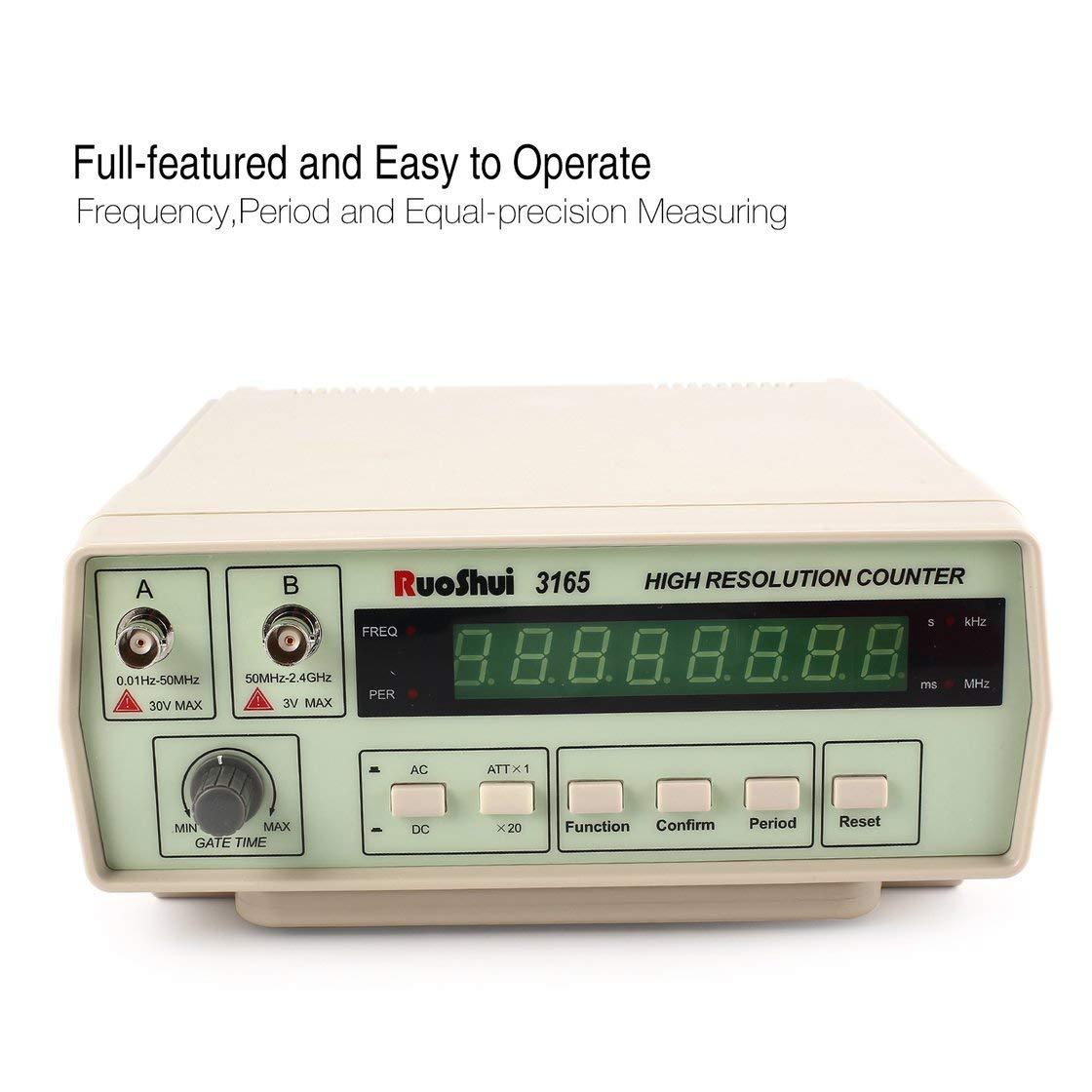 RuoShui 3165 compteur de fré quence radio de haute pré cision numé rique testant le compteur 0, 01Hz - testeur de compteur de fré quence 2, 4 GHz 01Hz - testeur de compteur de fréquence 2 Gwendoll
