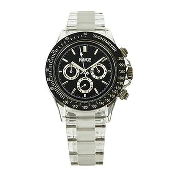 Reloj cuarzo para hombre Nike Sport Watches Cronografo Bianco OR. 410: Amazon.es: Relojes