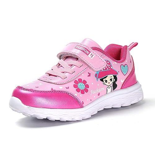 Yundac Zapatillas de Velcros para Niña Zapatos Salvajes Chica de Ocio Low Sneakers Antideslizante Girl Rosa 35 EU Etiqueta 36: Amazon.es: Zapatos y ...