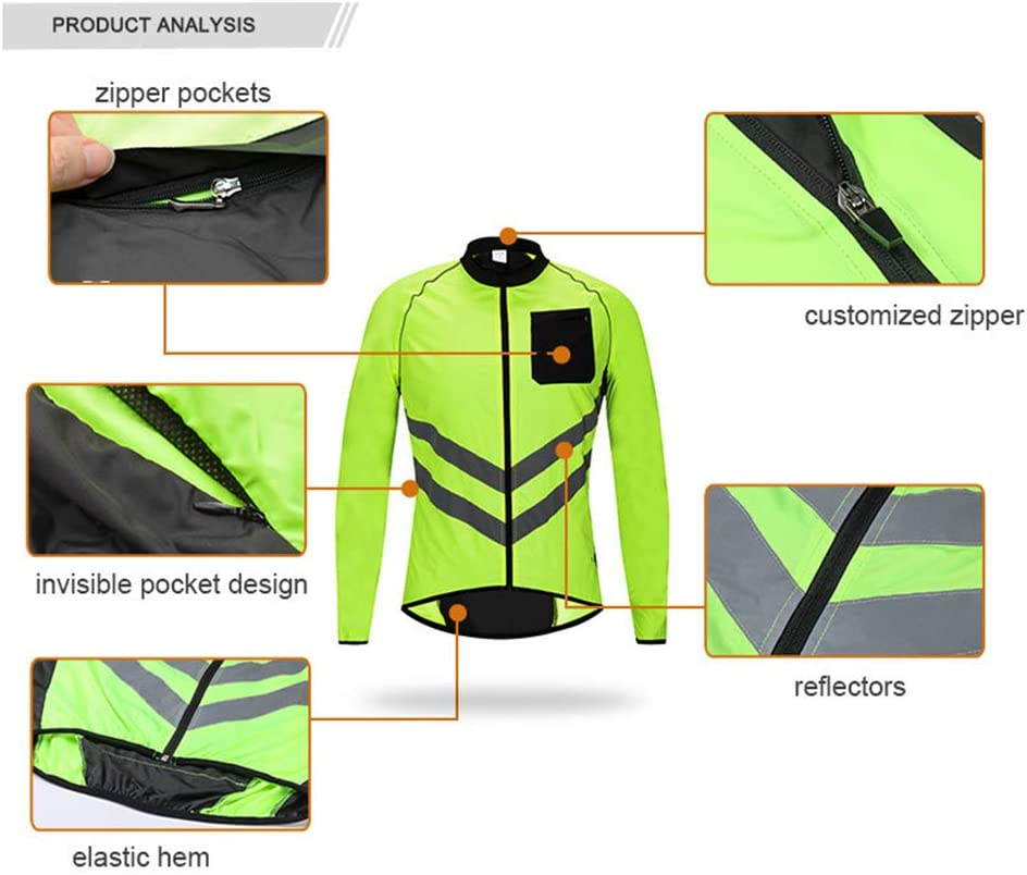 LIMX Waterproof Cycling Jacket Cycling Jacket Mens Waterproof Bike Jackets Cycling Jackets Breathable Windproof Lightweight Cycle Rain Coat