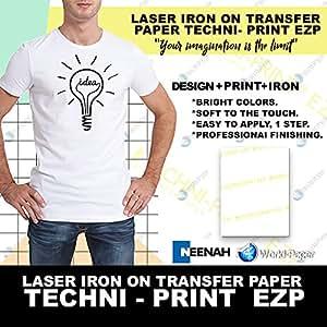 "Techni-Print EZP Laser Heat Transfer Paper 8.5""x11"" 25"
