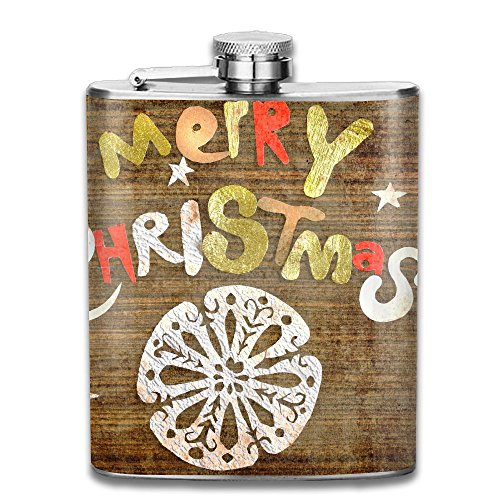 Tydo Merry Christmas Greeting Stainless Steel Hip Flask See Thru Flask Outdoor Portable Wine Bottle For Whiskey Alcohol