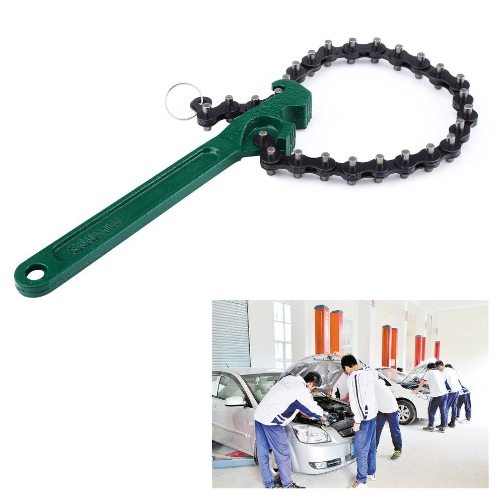 Llave de cadena 12 pulgadas//8 pulgadas Opcional Tipo de cadena de coche Aceite Combustible Filtro Llave Llave Herramienta de extracci/ón ajustable 12 inch