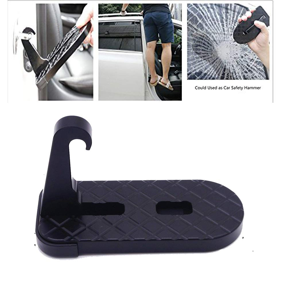 ANTS PART Universal Foldable Car Door Latch Foot Step with Safety Hammer