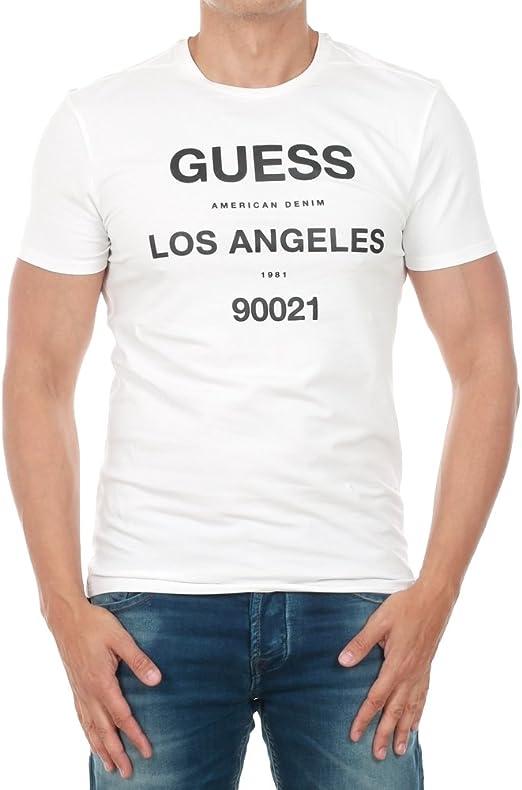 GUESS - Camiseta - para Hombre Blanco XX-Large: Amazon.es ...