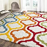 Safavieh Kids Shag Collection SGK561A Ivory and Multi Area Rug (8' x 10')
