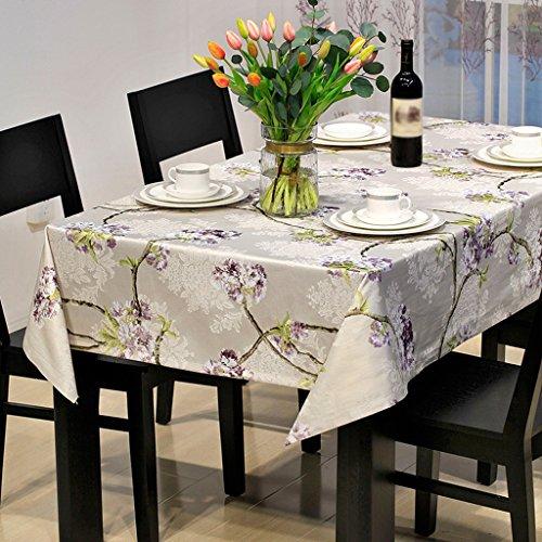 A 135200cm LINGZHIGAN Nappe Tissu Art Table de thé rectangulaire simple Table de fête de mariage (Ce produit ne vend que des nappes) ( conception   A , taille   135200cm )